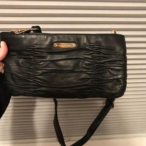 Michael Kors small black leather bag